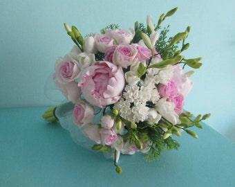 Wedding bouquet Bridal flower Pink peony rose