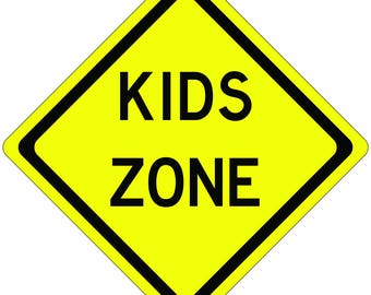 Kids Zone Sign for Kids Room or Parties