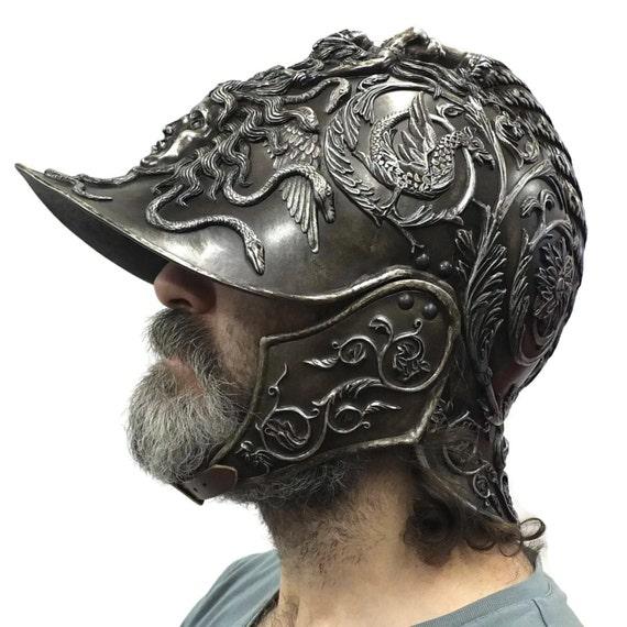 Larp Armor, Medieval Negroli Helmet