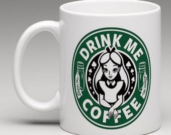 Alice in Wonderland Inspired ; Drink Me Coffee Mug