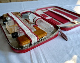 Vintage men's Grooming Set/ Men's travel set / Men's Travel Shaving Kit/ Gentleman's grooming kit