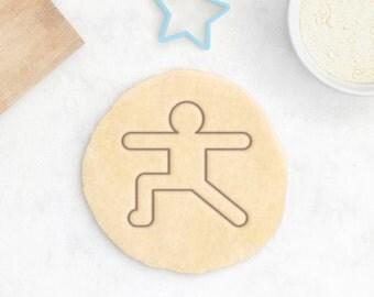 Yoga Cookie Cutter – Warrior Pose Cookies Yoga Gifts Yoga Instructor Gift Yogi Gift Tree Pose Easy Pose Namaste Meditation Mindfulness