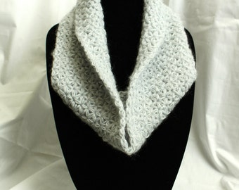 Star Stitched Scarf in Light Blue