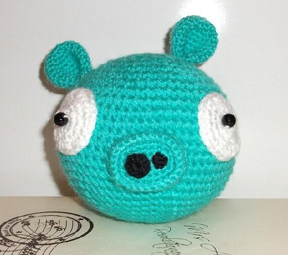 Amigurumi Green Pig : Crochet Angry Birds Green Pig Amigurumi