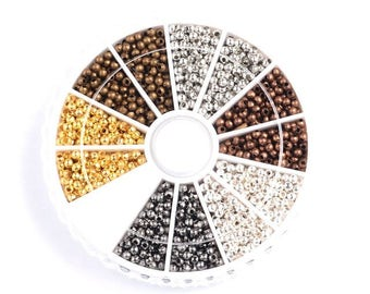 480 carousel beads spacers 3.2 mm 6 colours