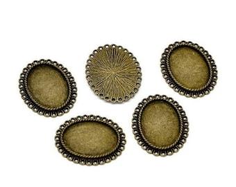 10 bronze plate connectors 25x18mm pendants