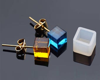 Silicone mould cube 7x7mm for resin fimo creations