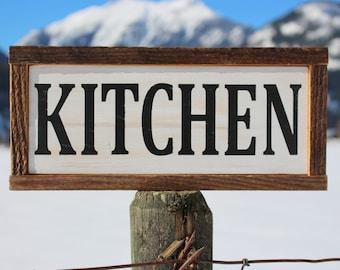 Barn Wood Kitchen Sign - Kitchen Decor - Rustic Kitchen Sign - Farmhouse Decor - Farmhouse Wall Art - Kitchen Wall Art