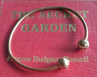 Victorian copper rose cuff bracelet