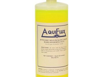 Aquiflux Self Pickling Flux for Precious Metals Gold Silver Jewelry and Hard Soldering 32 Oz (1 Quart) - SOL-932.10