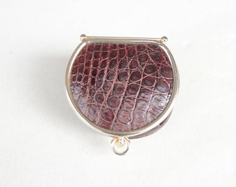 1960's Brown Exotic Leather Coin Purse