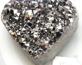 A-1542 Titanium Aura Quartz Crystal Heart 5.3 oz.