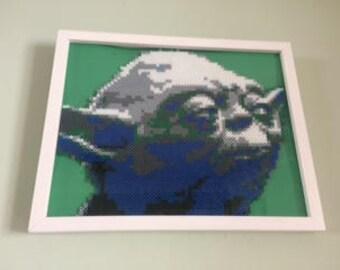 """Star Wars Yoda Perler Art 11"""" x 17"""""""