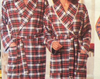 His and Her Robe and Pajama Pattern---Butterick 4685---Size XS-S-M  UNCUT
