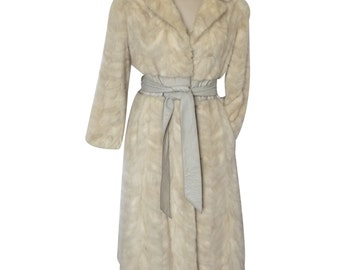 Coat, VINTAGE white mink - size 34/36 GB