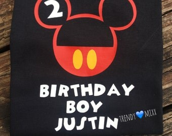 Birthday mickey shirt personalized