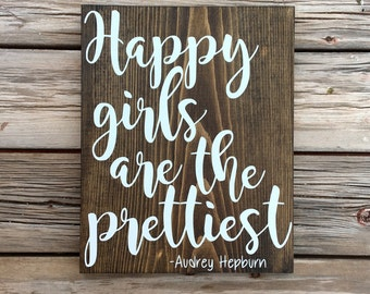 Happy girls are the prettiest - Audrey Hepburn