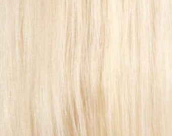 613-Platinum Blonde-100% Human Hair Flip-in(Halo style) extension