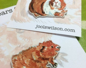 Guinea Pig Brooches