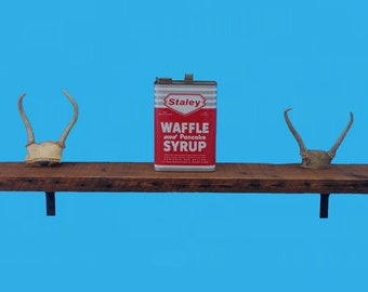 """barn wood floating shelf recycled , 48"""" by 6"""" by 1-5/8"""" , from a demolished out building-564-48"""