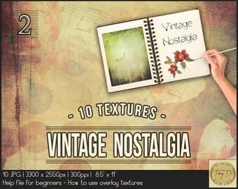 Vintage Nostalgia 2 | Photo Overlay Grunge Textures | Photo retouch tools | Aging Grunge Vintage Photo Effect | Digital papers