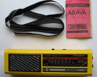 "NEW Soviet Portable Radio-Receiver ""ABAVA RP-8330"" 1991s"