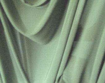 Dark Sage Green Satin Back Crepe Fabric