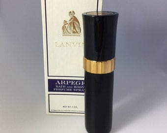 Vintage 1oz Lanvin Arpege Bath & Body Perfume Spray In Box, No 837, Lanvin Arpege Vintage Perfume