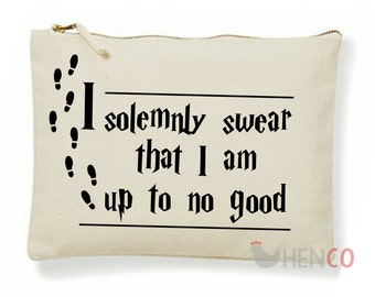 Harry Potter Make-Up Bag Harry Potter Accessory Bag Harry Potter Bag Harry Potter Pencil Case I Solemnly Swear I Am Up To No Good Christmas
