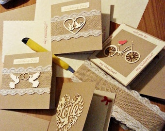 Wedding Day card, Valentine's Day card, Love card, Cupid card, Happy Wedding Day card, Happy Valentine's Day card, rustic Wedding Day card