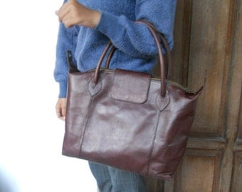 Dark Brown Leather Hand bag
