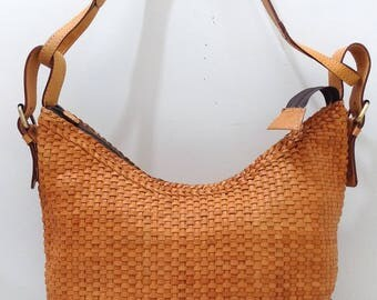 Kenny woven leather tote