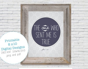 Bible Verse Wall Art John 7:28 Print DIY Digital