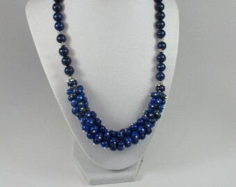 Sale! 40 OFF!! Was 70! Blue necklace, saphire necklace, Statement necklace,  super fashion necklace, lazurite necklace, semi-preciouse stone