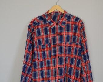Vintage grunge/nineties check/plaid shirt.