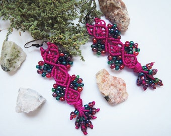 Earrings for teenage girl Boho kids jewelry Valentine's day Gift earrings Earrings for daughter Long earrings Gypsy earrings Gift for girl