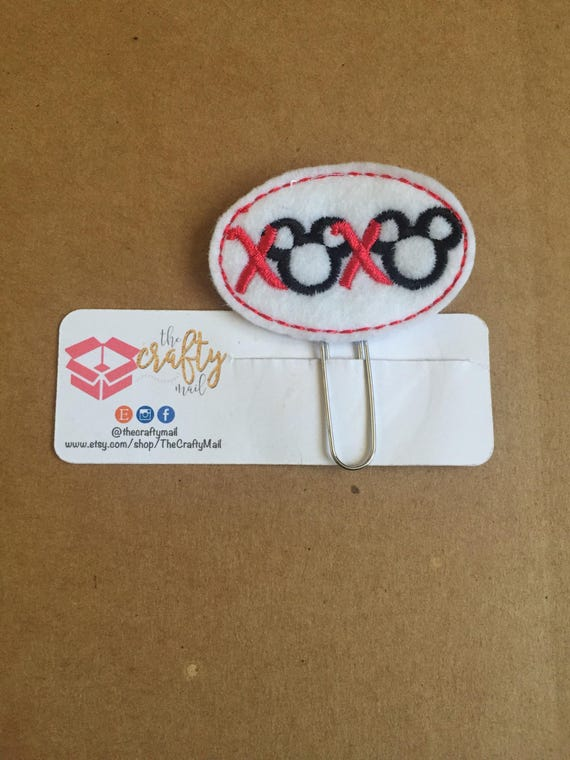XOXO Mouse Inspired Clip/Planner Clip/Bookmark.