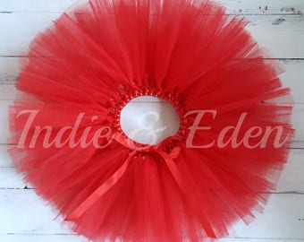 Red Tutu for girls birthday photo prop cake smash baby toddler skirt