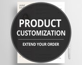 Product Customization - Custom Work - Extend your order