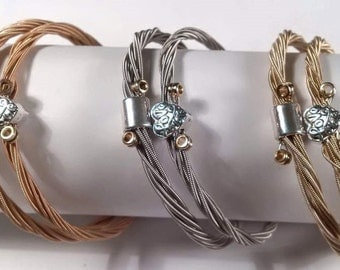 Guitar String Bracelet Set Upcycled His n Hers Couples Jewellery
