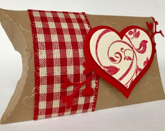 3-D Heart Pillow Box Set (4), 3-D Heart Gift Card boxes (4),3D Handmade Gift Box Set,Handmade Gift Boxes ,Heart Gift Boxes,Valentine boxes