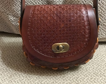 Hand Tooled Leather Hand Bag