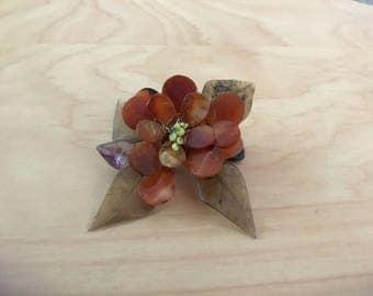Vintage Glass Flower Pendant