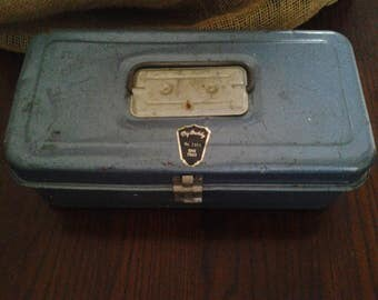 """Metal Tackle Box / Toolbox """"My Buddy"""" No. 1351, Father's Day Gift"""
