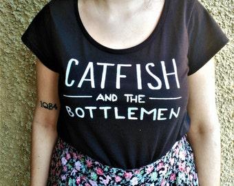 Catfish & The Bottlemen T shirt hand painted crop top