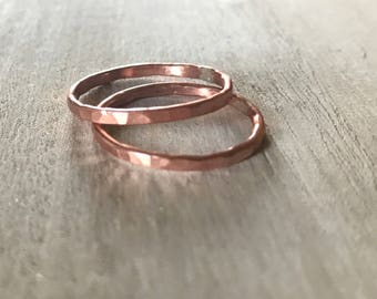 Hammered Copper Ring // Ready to Ship // Sizes 5, 8.5 & 9.5