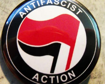 ANTIFASCIST ACTION pinback buttons badges pack!