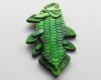 Coelacanth fridge magnet, fish fridge magnet, cool fridge magnet, glow in the dark, glow in the dark fish, gift for anglers, gift for him,