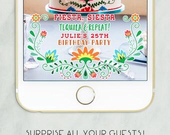 Snapchat Fiesta Geofilter, Snapchat Fiesta Party, Mexican Fiesta Party, Cinco de Mayo Party, Snapchat Party Geofilter, Geofilter Birthday
