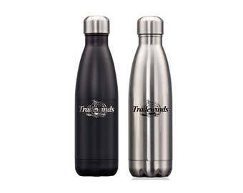 Personalized 17 oz. Water Bottle - Stainless Steel - Vacuum Insulated - Laser Engraved Free - Gift for Athletes, Gift for Sports Team